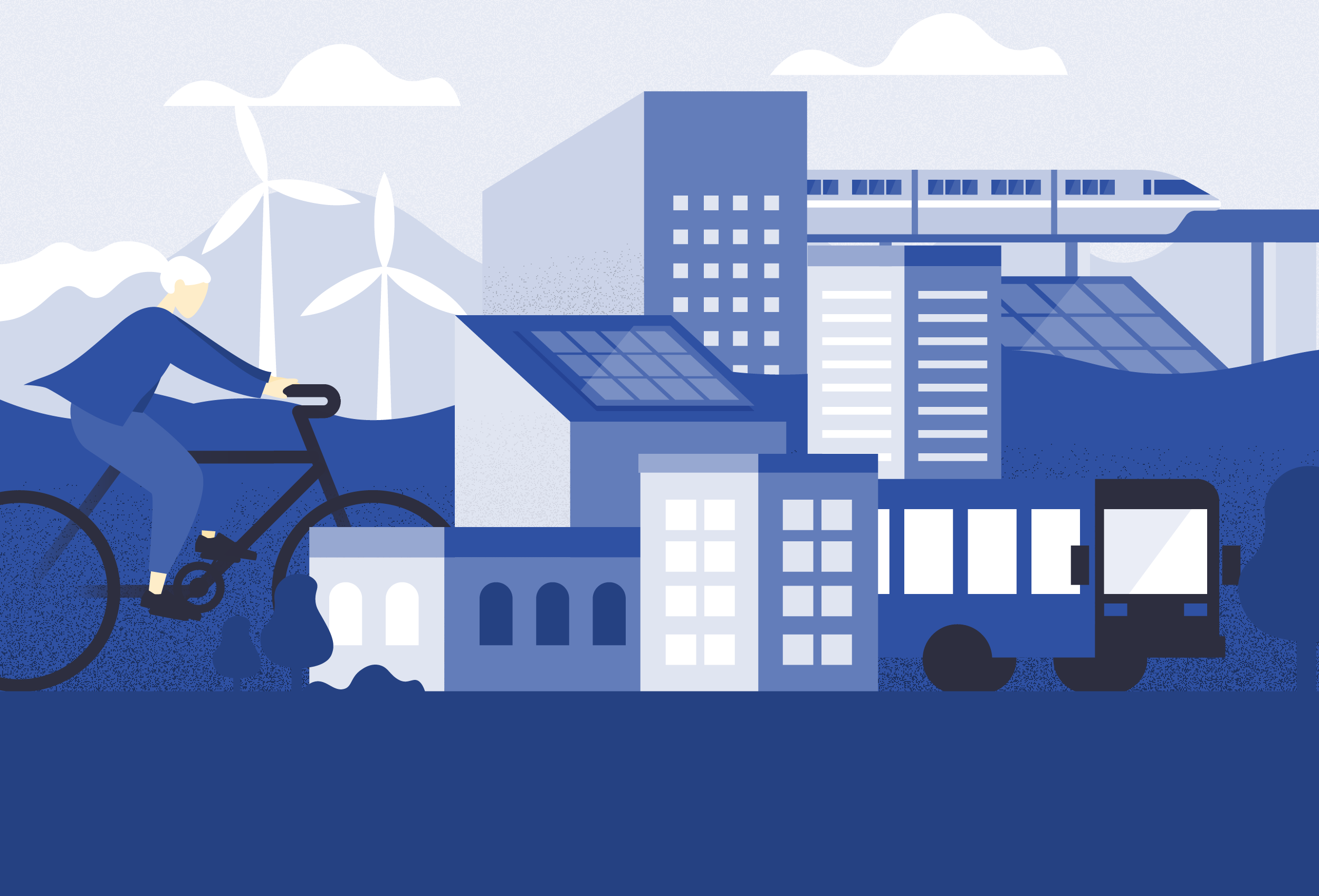 Clean energy sources in a city setting