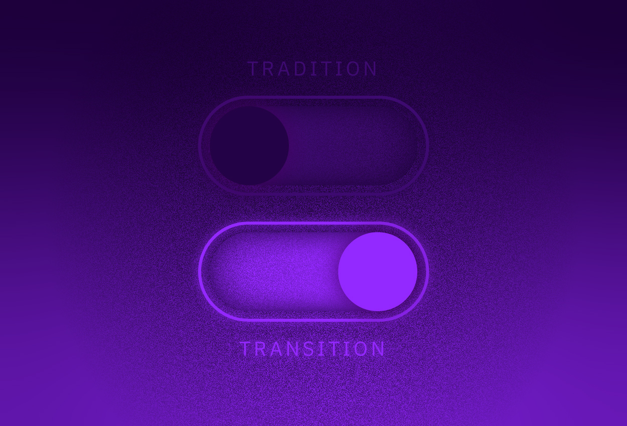 Tradition, transition buttons