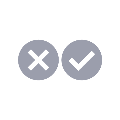 Cross and tick boxes